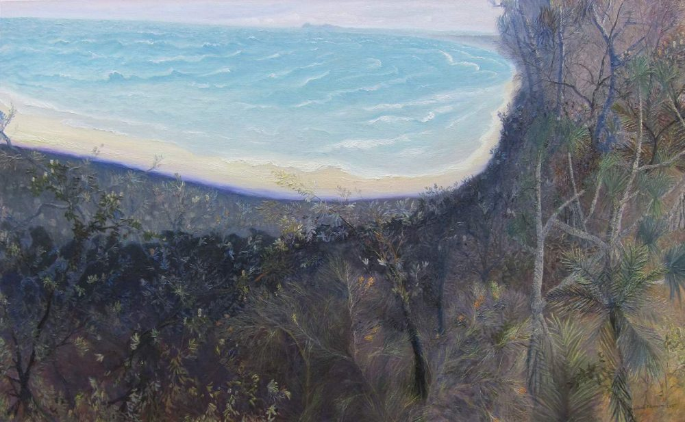 William Robinson - Bright sea at Cape Byron, 2007, oil on linen. 100 x 162 cm