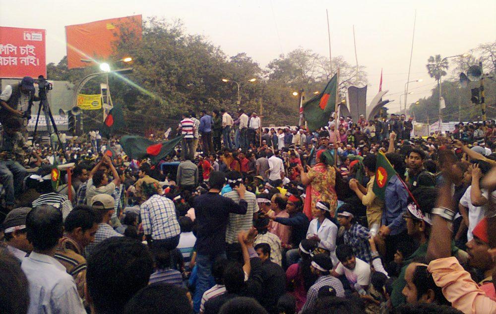 Shahbag rallies. Image: Tareq S.